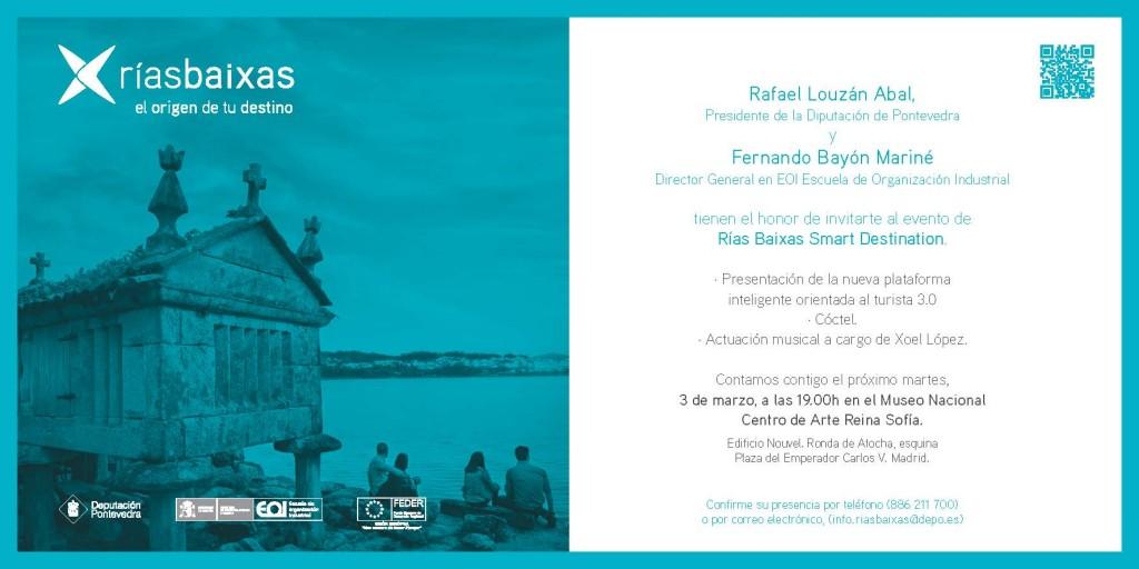 Invitación presentación Rías Baixas en Madrid