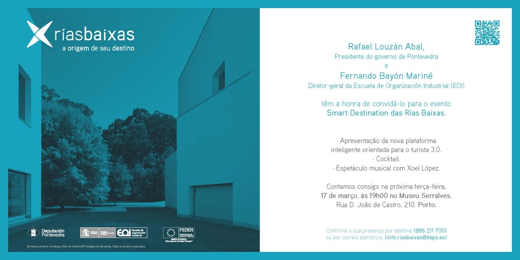 Invitacion presentación Rías Baixas Porto