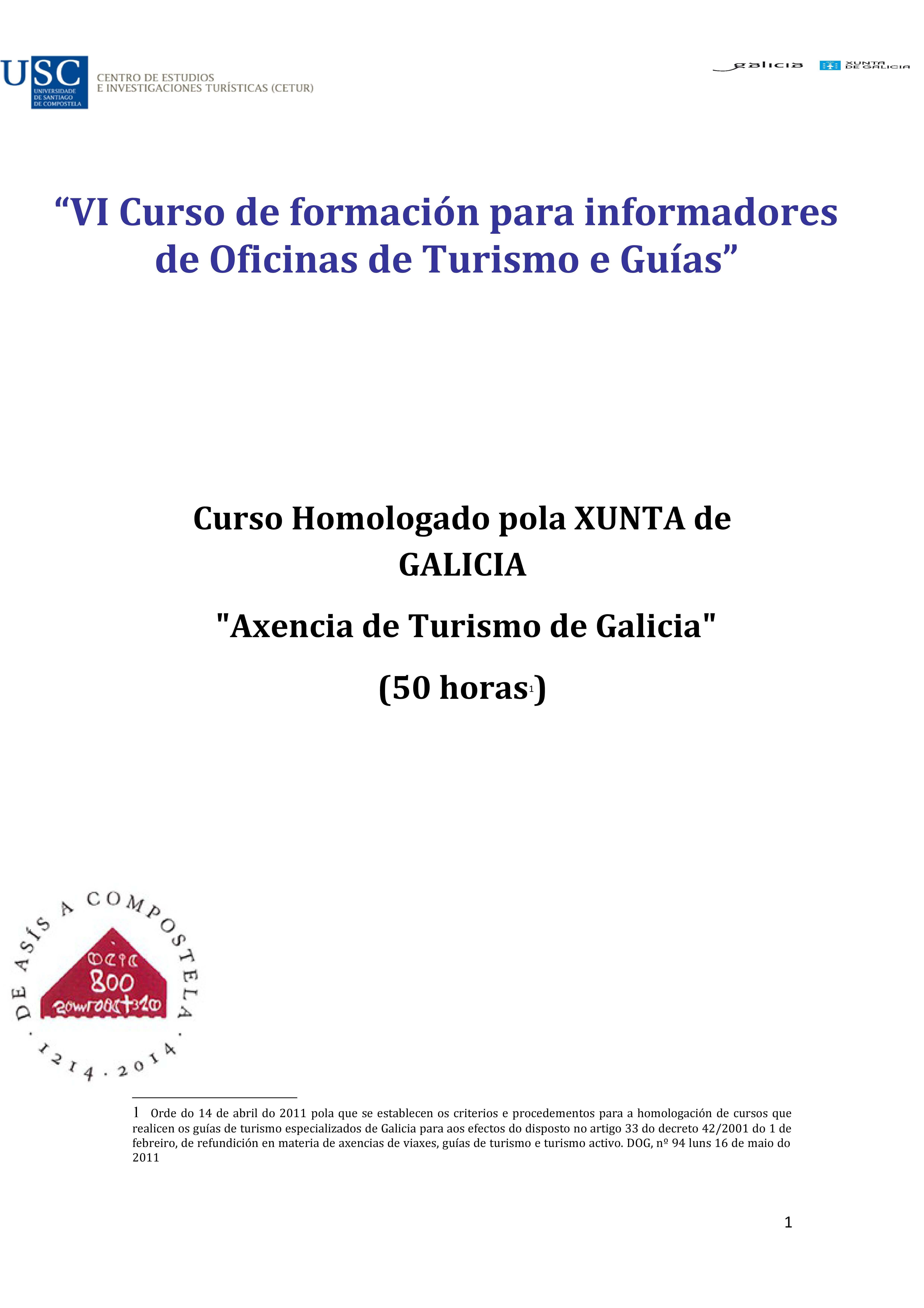 Curso de la USC para informadores de oficinas de turismo y guías
