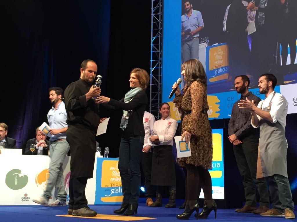Gonzalo Pérez, de Frank (Ferrol), acada o premio como mellor cociñeiro do certame De Tapas x Galicia