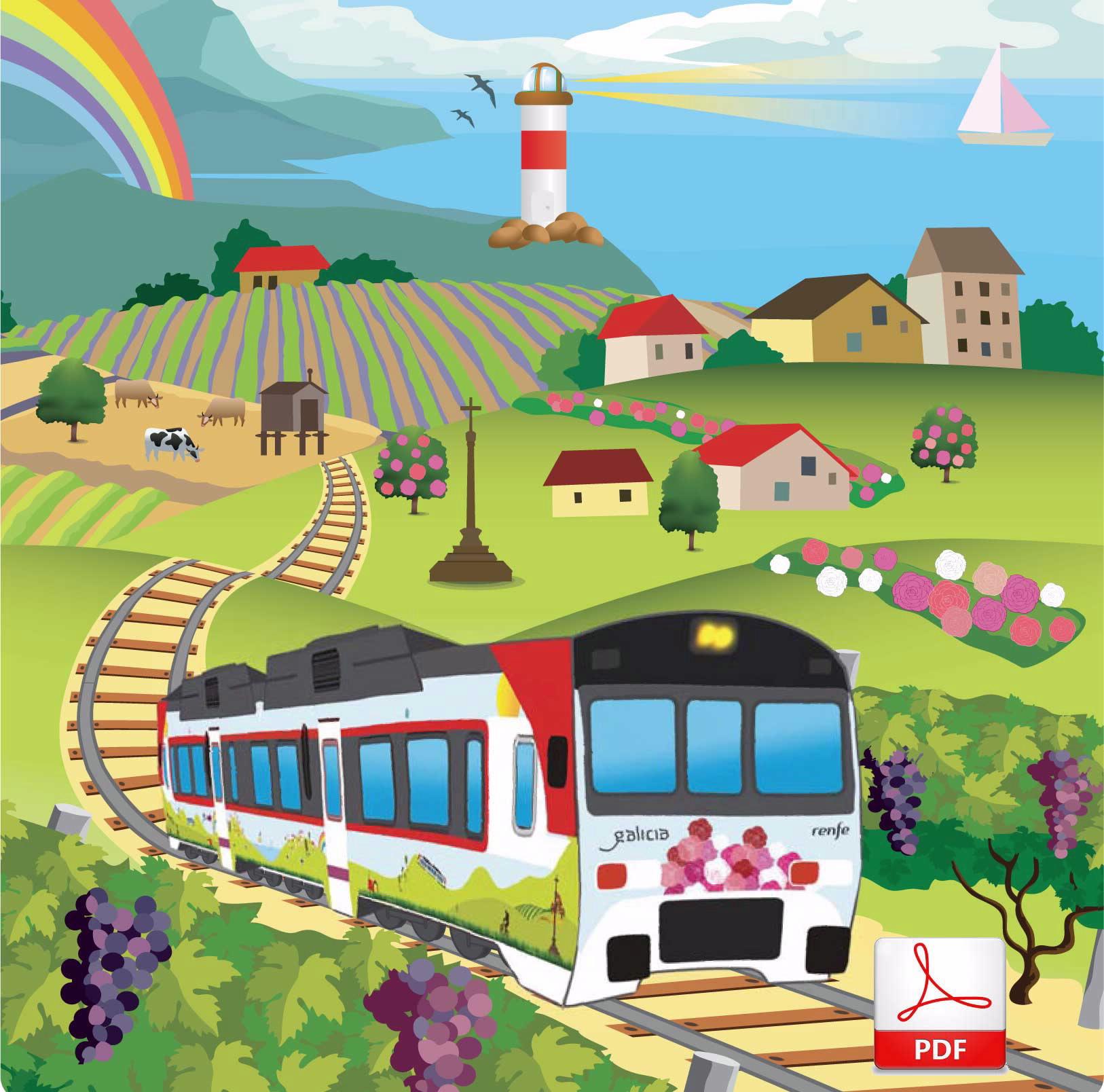 Galicia a todo tren trae como principal novidade o Tren Peregrino