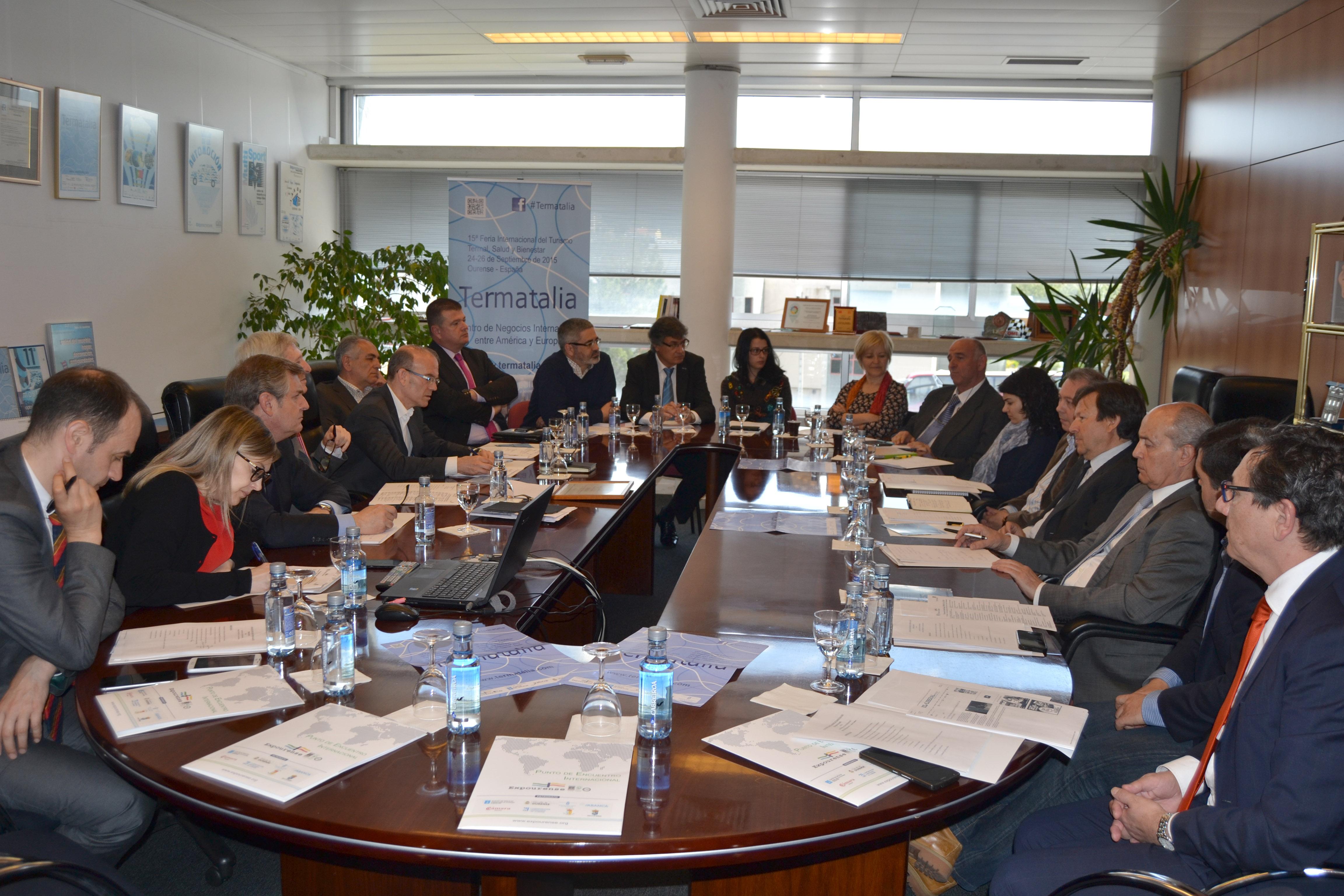 Una veintena de expertos del sector termal se dan cita en Expourense para avanzar en el programa de Termatalia 2015