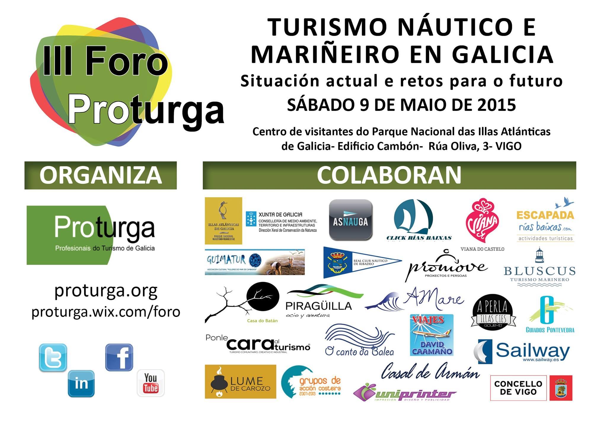 Turismo náutico y marinero, protagonistas este sábado del III Foro Proturga