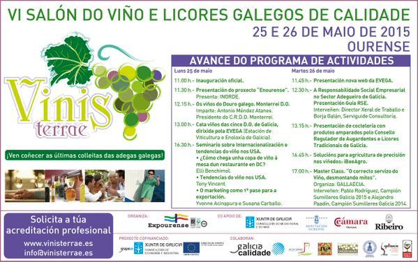 Amplio catálogo de actividades y presentaciones en el Vinis Terrae, el VI Salón del Vino y Licores Gallegos de Calidad