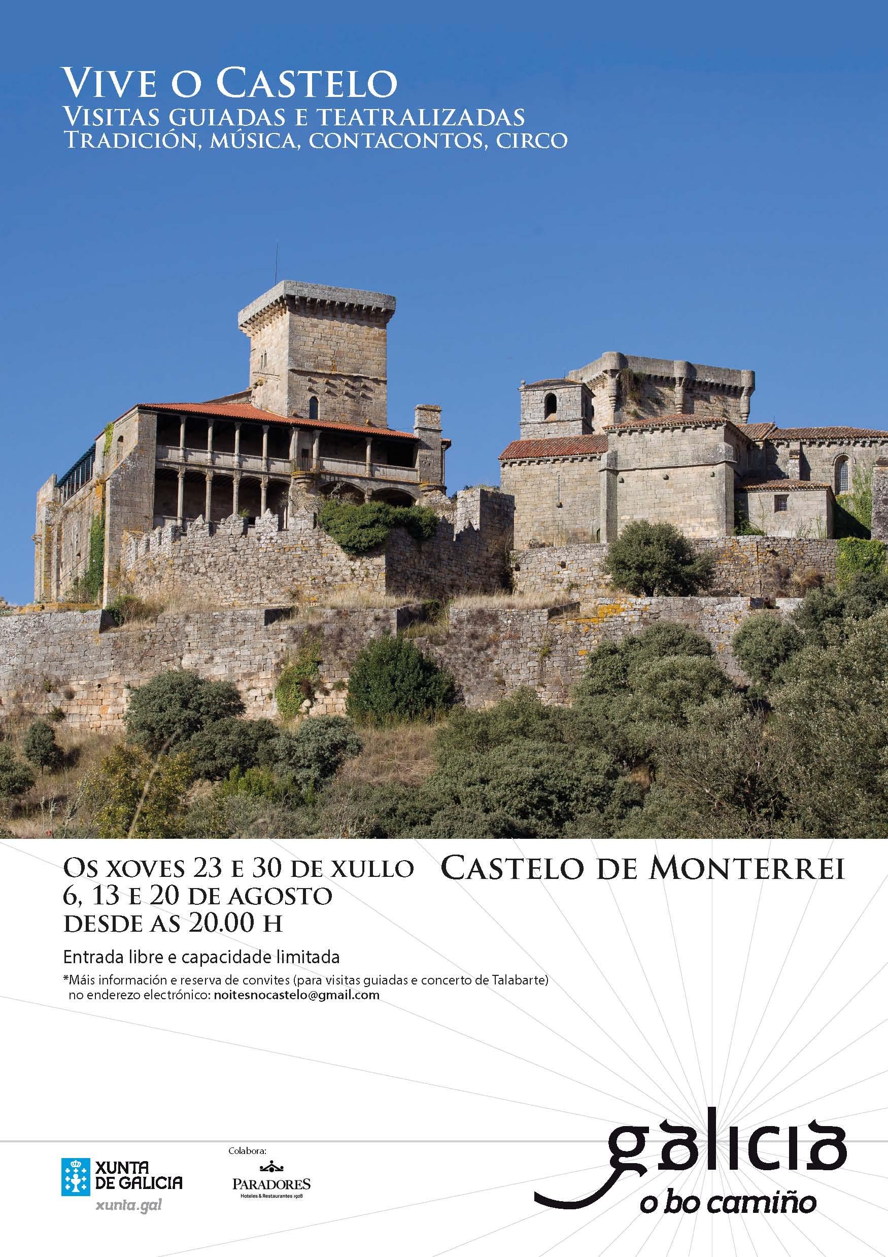 Visitas guiadas y teatralizadas para dinamizar turísticamente a o Castelo de Monterrei