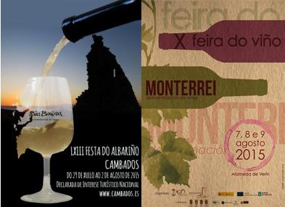 Gastronomía, catas profesionales, música... de la LXIII Festa do Albariño 2015 a la Fiesta del Vino de Monterrei