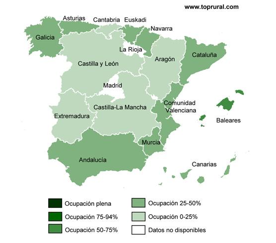 Los alojamientos rurales gallegos aumentan su media de ocupación en el mes de julio hasta un 33%