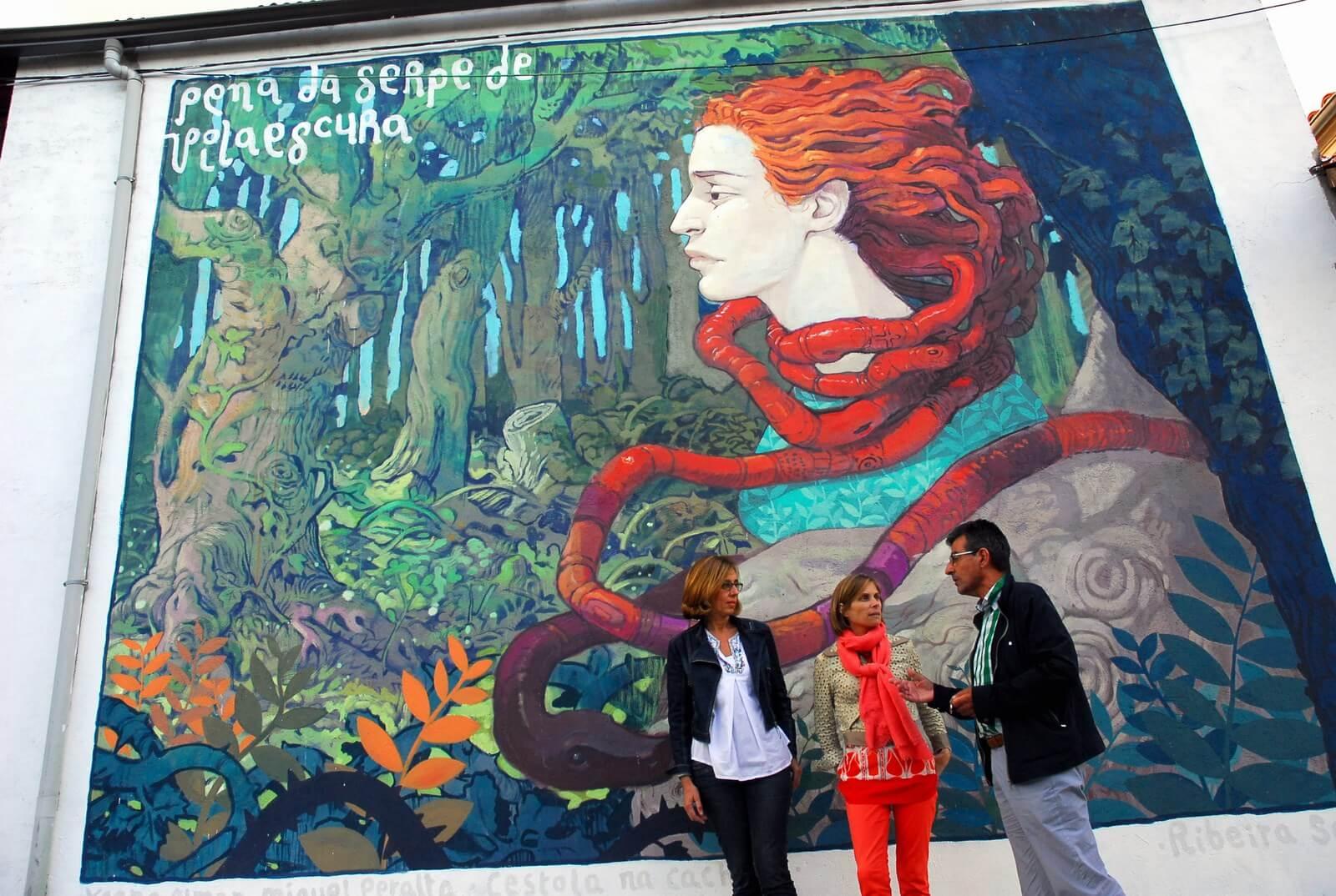Arte urbana para contribuir á difusión da candidatura da Ribeira Sacra a Patrimonio da Unesco