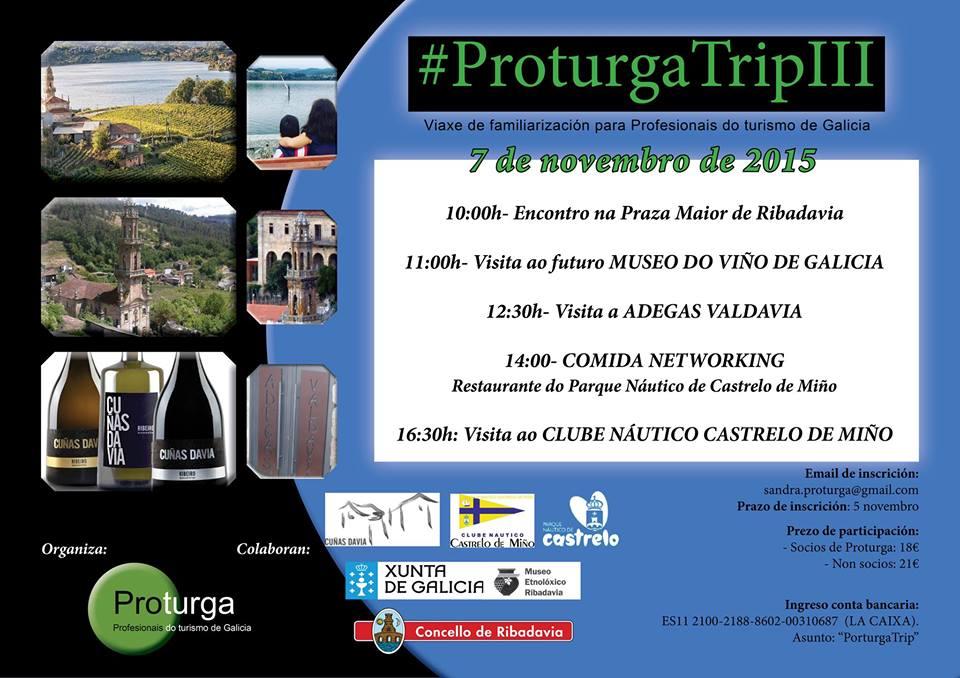 A terceira edición do ProturgaTrip viaxa ata a comarca do Ribeiro