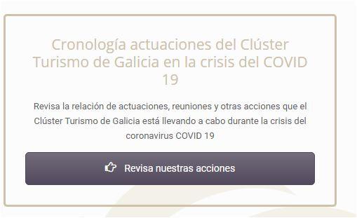 Revista las actuaciones del Clúster Turismo de Galicia durante la crisis del #coronavirus