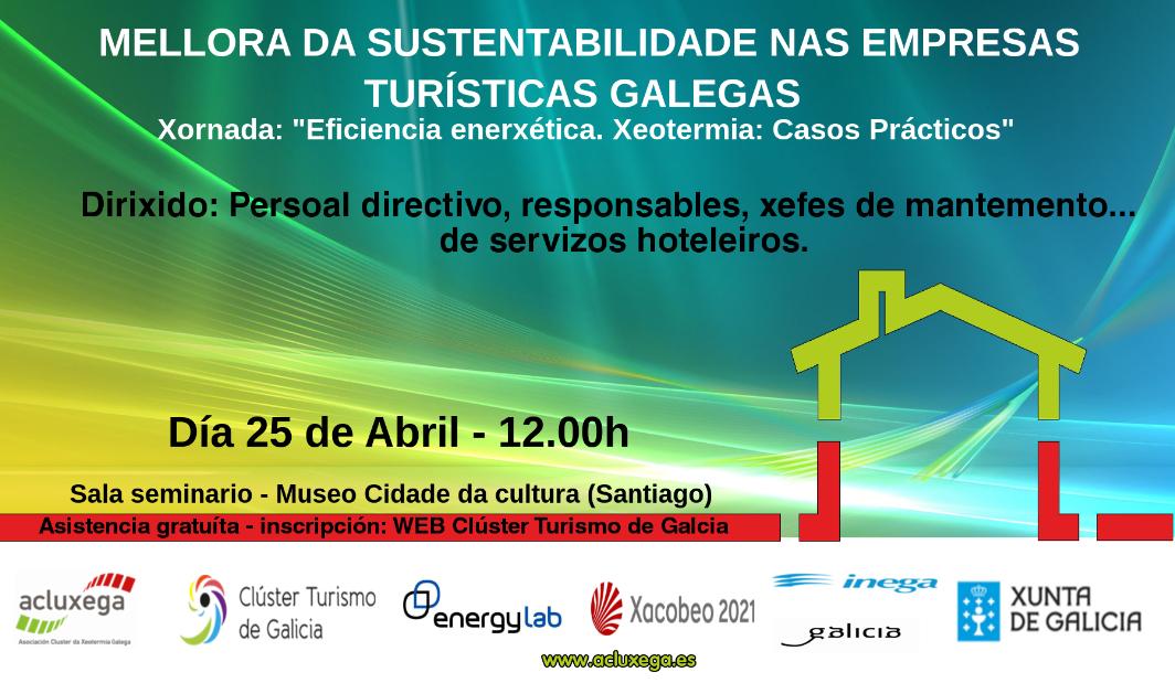 Xornada sobre eficiencia enerxética e mellora da sustentabilidade nas empresas turísticas galegas