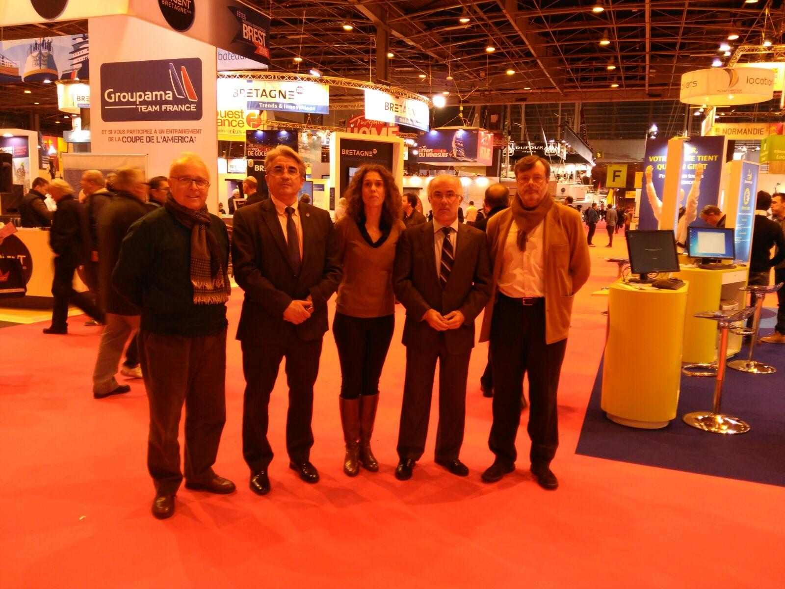 Balance muy positivo de la presencia de la delegación gallega en el Salón Náutico de París