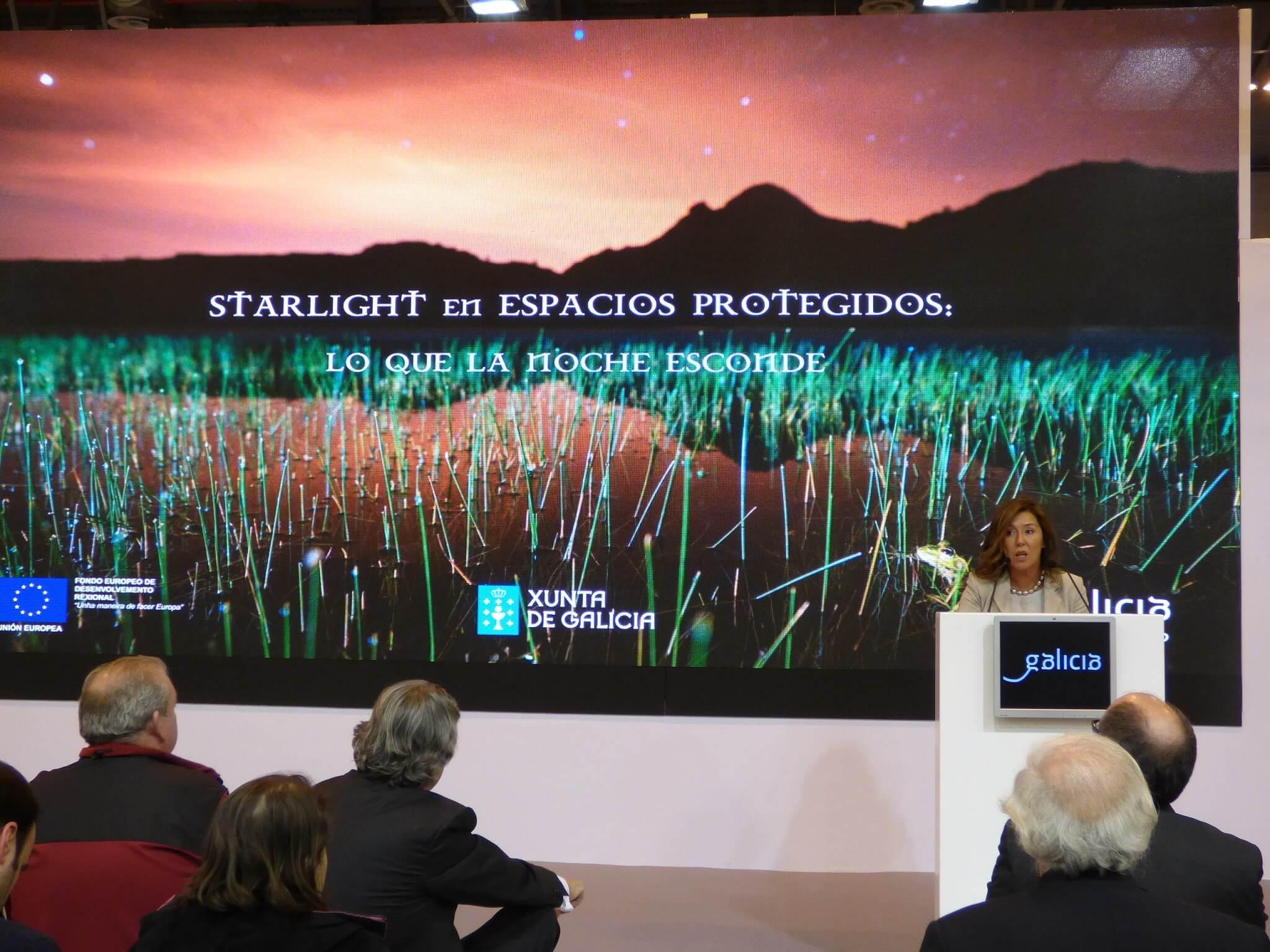 """""""Lo que la noche esconde"""", Fitur acogió la presentación de los dos espacios Starlight gallegos"""