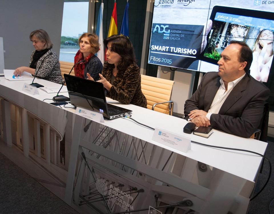 A directora da Axencia para a Modernización Tecnolóxica de Galicia, (Amtega), Mar Pereira, e a directora de Turismo de Galicia, Nava Castro, presentarán aos axentes do sector turístico a ferramenta Turespazo.