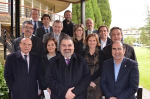 Representantes del Clúster con Turismo de Galicia