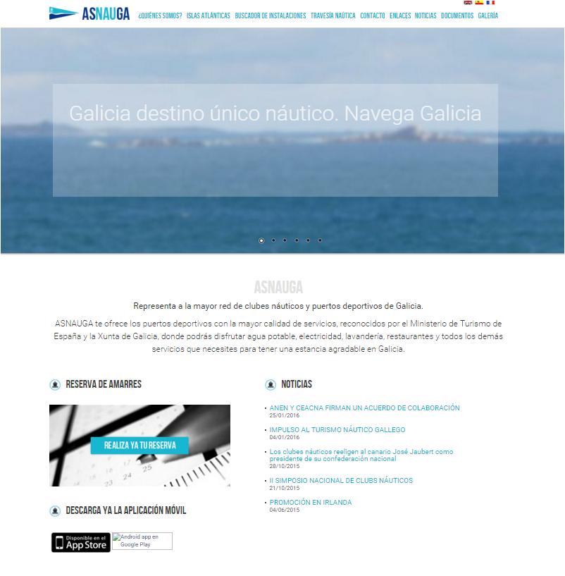 Asnauga estrena nuevo espacio web