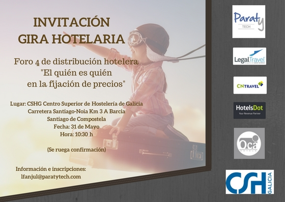 [:es]El CSHG acoge la cuarta jornada de la Gira Hoteleria para hablar sobre distribución hoteleraO CSHG acolle a cuarta xornada da Xira Hoteleria para falar sobre distribución hoteleiraThe CSHG hosts the fourth day of the Gira Hoteleria to talk about hotel distribution