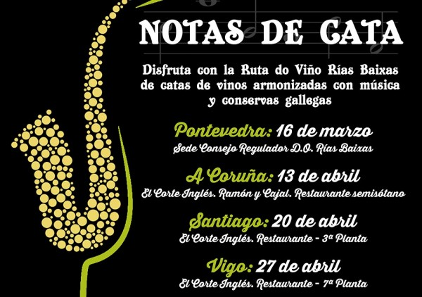 "[:es]Las 'Notas de Cata' inauguran la programación anual de la Ruta do Viño Rías Baixas con degustación de vinos, conservas y músicaAs ""Notas de Cata"" inauguran a programación anual da Ruta do Viño Rías Baixas con degustación de viños, conservas e músicaThe' Tasting Notes' inaugurate the annual programme of the Ruta do Viño Rías Baixas with wine tasting, preserves and music"
