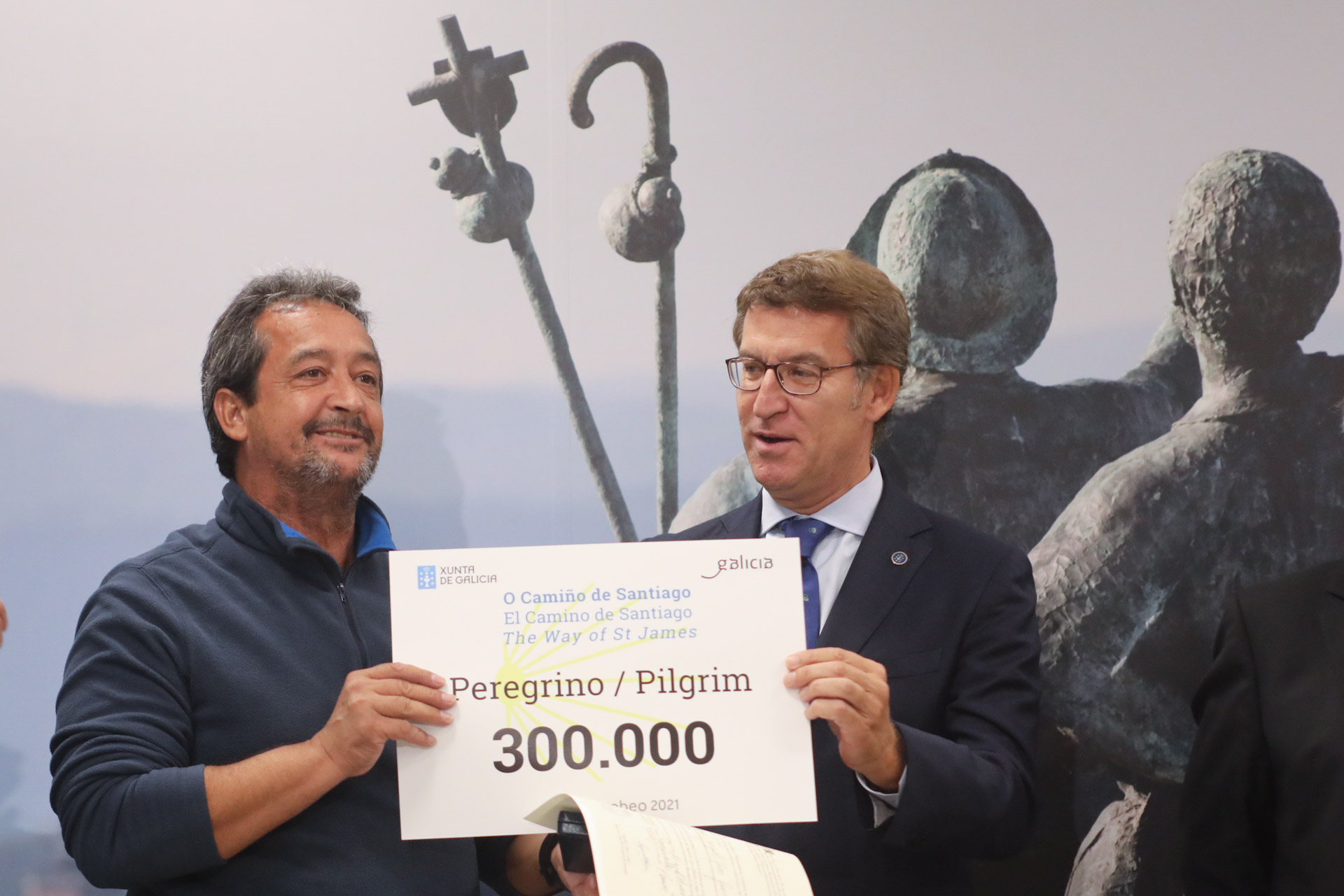 Galicia receives the pilgrim 300.000 with the forecast to close 2018 with a new record