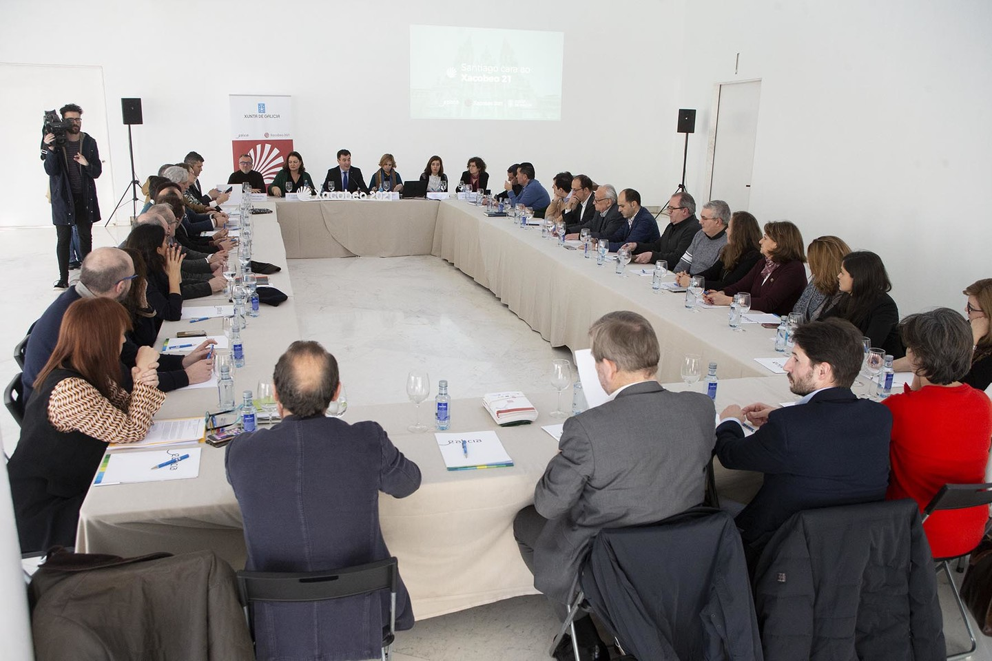 Cultural and tourist agents linked to the Pilgrim's Way to Santiago meet to prepare for Xacobeo 21