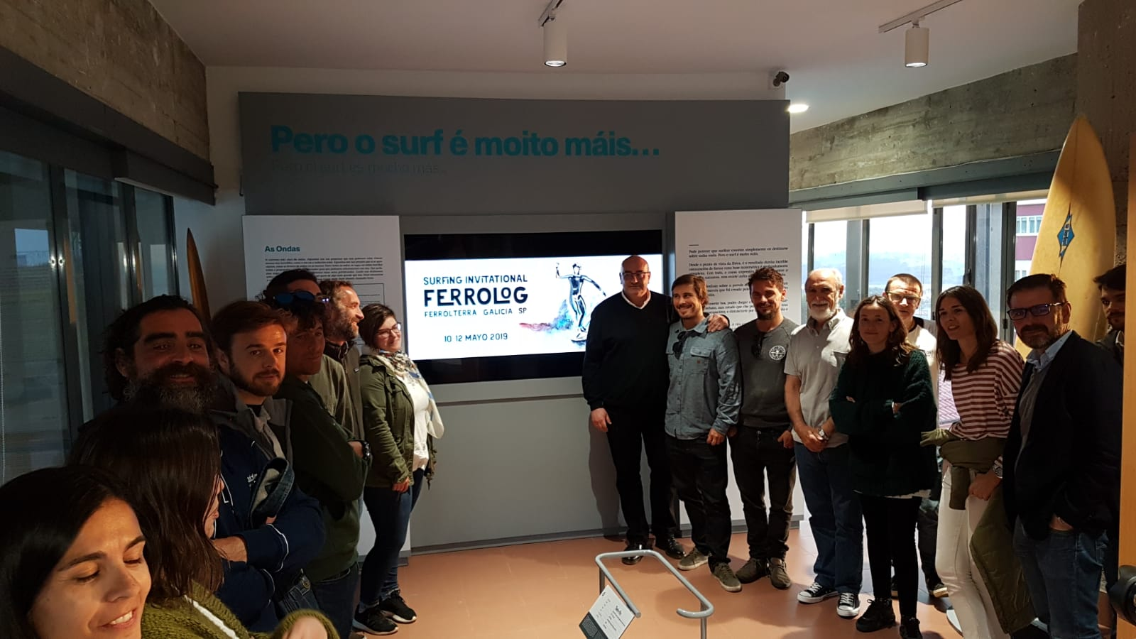 The Ocean Surfing Museum hosted the presentation of the Ferrolog Surfing Invitational
