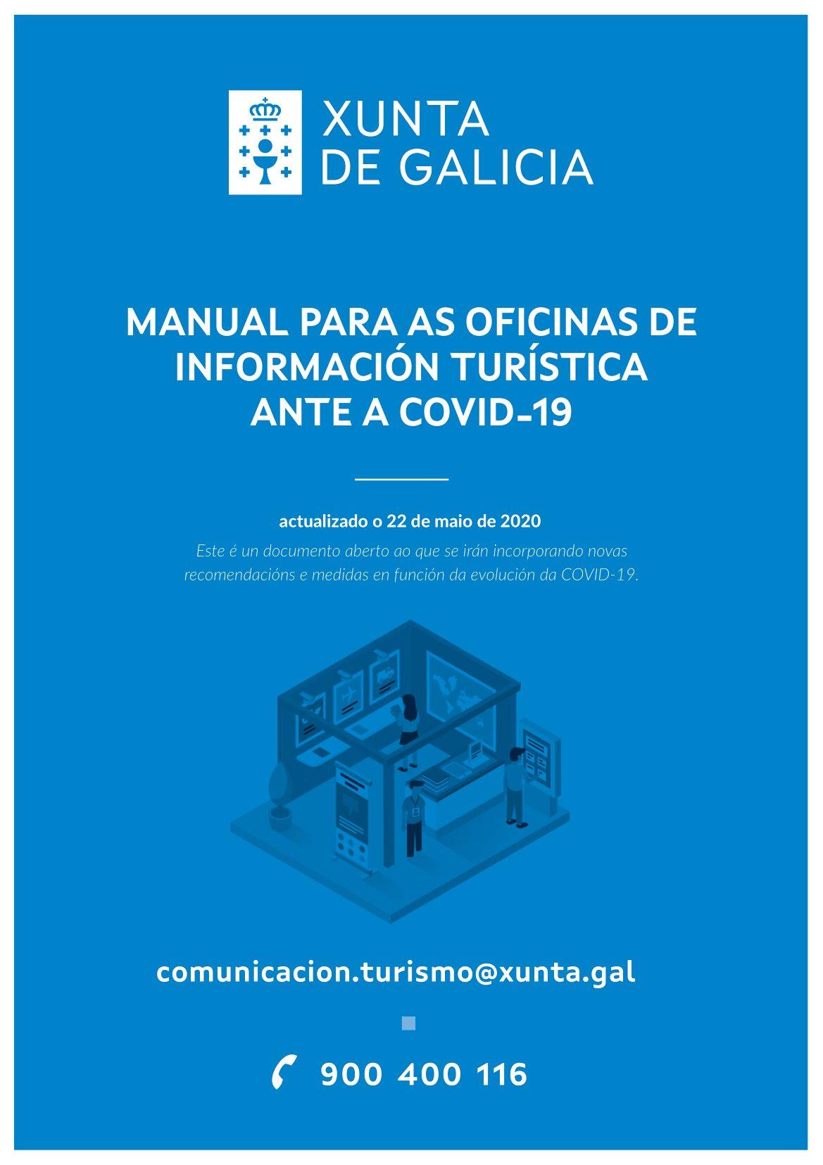 Xa podes descargar os manuais de recomendacións fronte á COVID 19 da Xunta de Galicia para o sector turístico galego