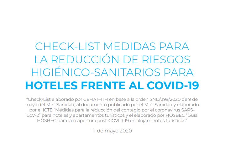 check list portada guia reapetura hoteles coronavirus
